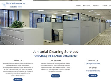Cleaning Services Company website design