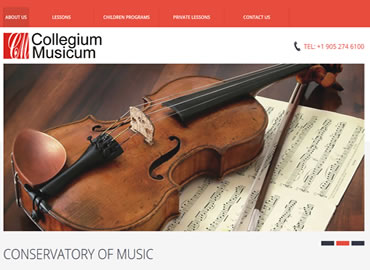 Music Store website design