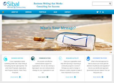 Business Writing website design