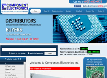 Electronic components compnay website design