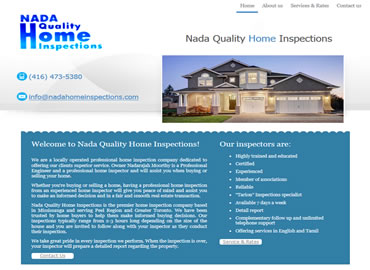 Home Inspections website design