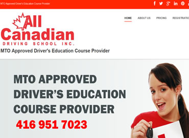 Driving School Website Design in Toronto